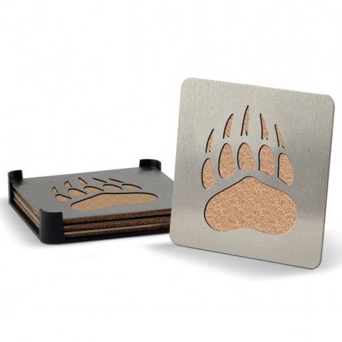 Montana Grizzlies Boasters Stainless Steel Coasters - Set of 4