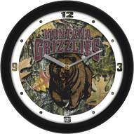 Montana Grizzlies Camo Wall Clock