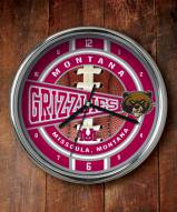 Montana Grizzlies Chrome Wall Clock