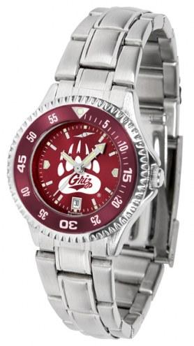Montana Grizzlies Competitor Steel AnoChrome Women's Watch - Color Bezel