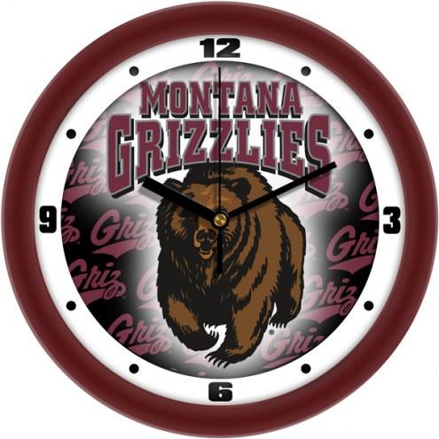 Montana Grizzlies Dimension Wall Clock