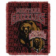 Montana Grizzlies Double Play Woven Throw Blanket