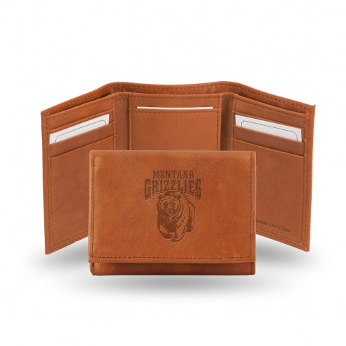 Montana Grizzlies Embossed Tri-Fold Wallet