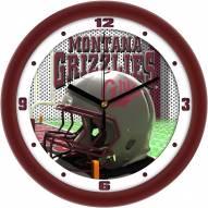 Montana Grizzlies Football Helmet Wall Clock