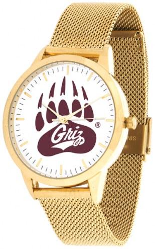 Montana Grizzlies Gold Mesh Statement Watch