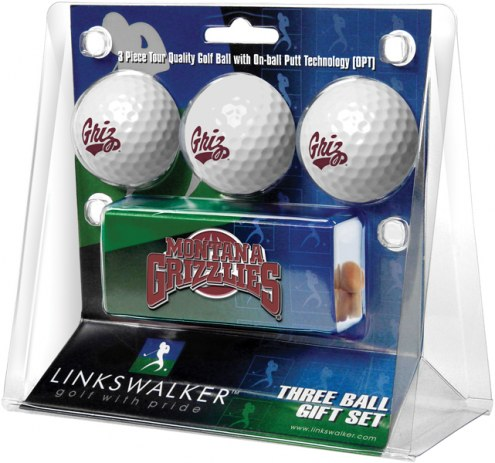 Montana Grizzlies Golf Ball Gift Pack with Slider Clip