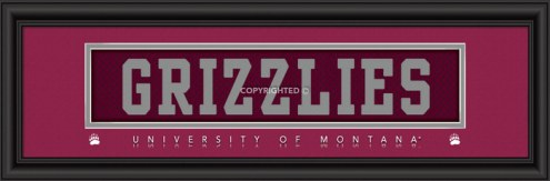 """Montana Grizzlies """"Grizzlies"""" Stitched Jersey Framed Print"""