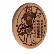 Montana Grizzlies Laser Engraved Wood Clock