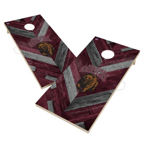 Montana Grizzlies Herringbone Cornhole Game Set