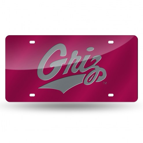 Montana Grizzlies Laser Cut License Plate