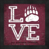 Montana Grizzlies Love My Team Color Wall Decor