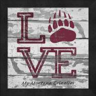 Montana Grizzlies Love My Team Square Wall Decor