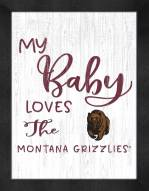Montana Grizzlies My Baby Loves Framed Print