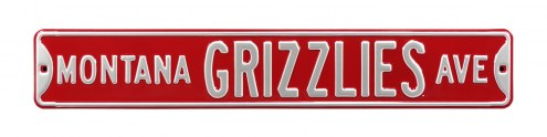 Montana Grizzlies NCAA Embossed Street Sign