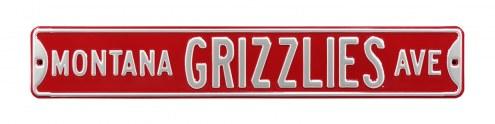Montana Grizzlies NCAA Embossed Street Sign