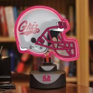 Montana Grizzlies Neon Helmet Desk Lamp