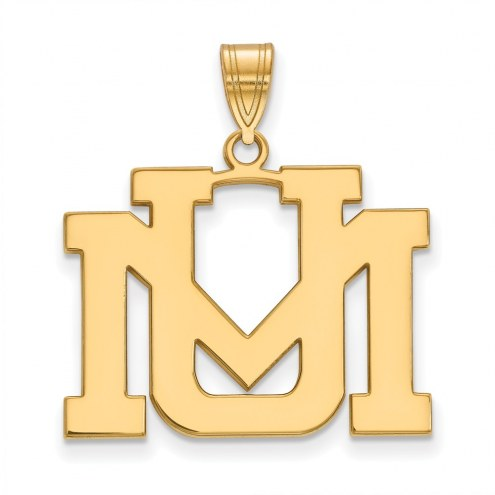 Montana Grizzlies NCAA Sterling Silver Gold Plated Large Pendant
