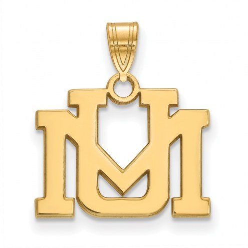 Montana Grizzlies NCAA Sterling Silver Gold Plated Small Pendant