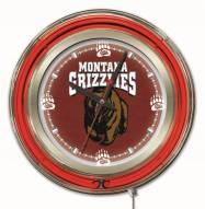 Montana Grizzlies Neon Clock