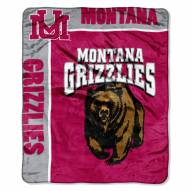 Montana Grizzlies School Spirit Raschel Throw Blanket