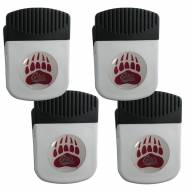 Montana Grizzlies 4 Pack Chip Clip Magnet with Bottle Opener