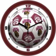Montana Grizzlies Soccer Wall Clock