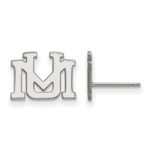 Montana Grizzlies Sterling Silver Extra Small Post Earrings