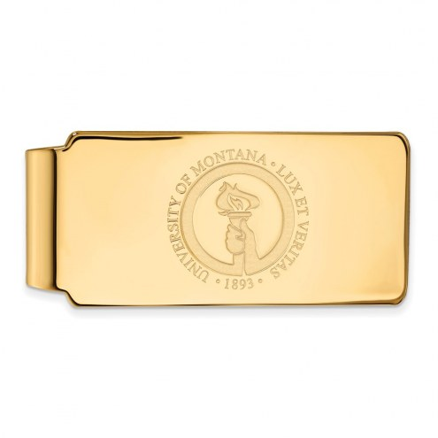 Montana Grizzlies Sterling Silver Gold Plated Crest Money Clip