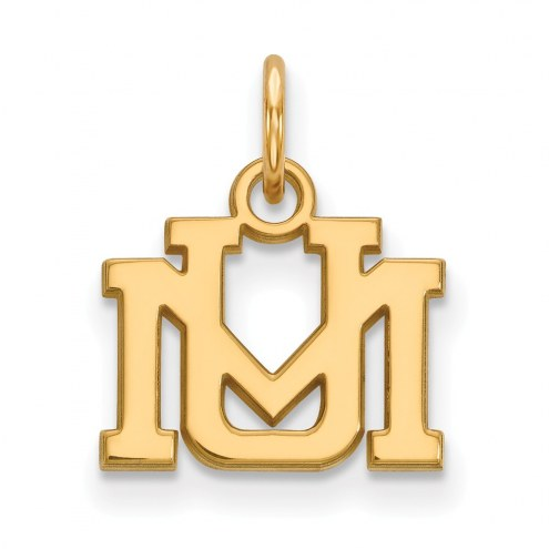 Montana Grizzlies Sterling Silver Gold Plated Extra Small Pendant