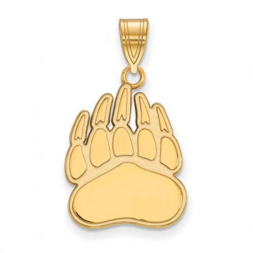 Montana Grizzlies Sterling Silver Gold Plated Large Pendant