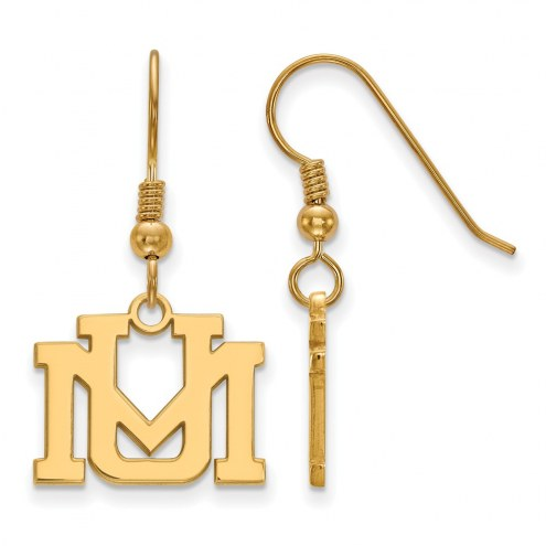Montana Grizzlies Sterling Silver Gold Plated Small Dangle Earrings