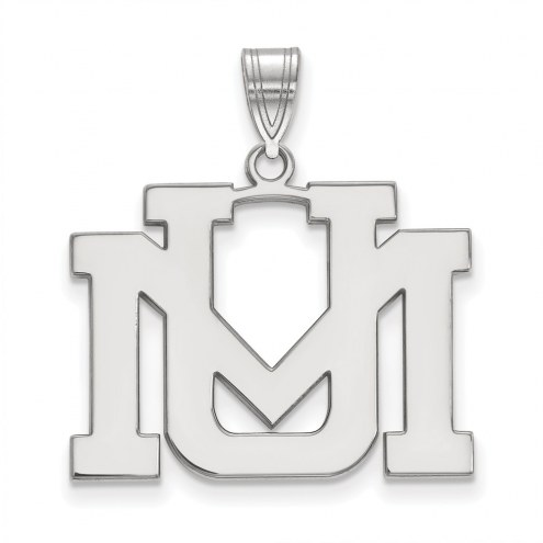 Montana Grizzlies Sterling Silver Large Pendant