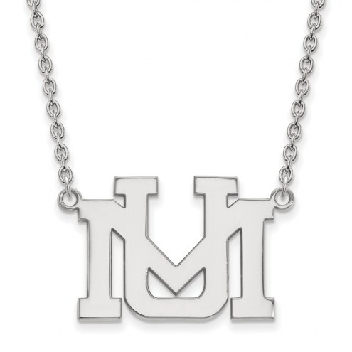 Montana Grizzlies Sterling Silver Large Pendant Necklace