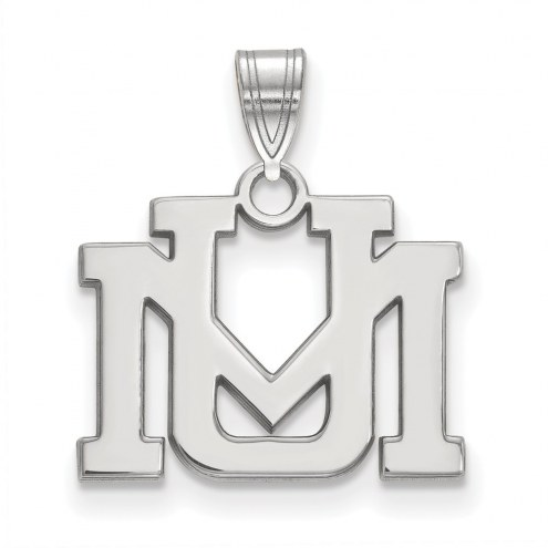 Montana Grizzlies Sterling Silver Small Pendant