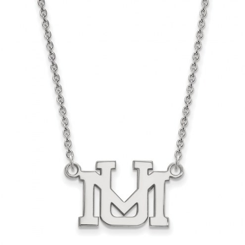 Montana Grizzlies Sterling Silver Small Pendant Necklace