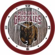 Montana Grizzlies Weathered Wood Wall Clock