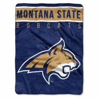 Montana State Bobcats Basic Plush Raschel Blanket