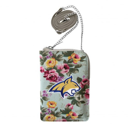 Montana State Bobcats Canvas Floral Smart Purse