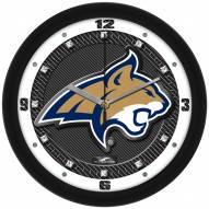 Montana State Bobcats Carbon Fiber Wall Clock