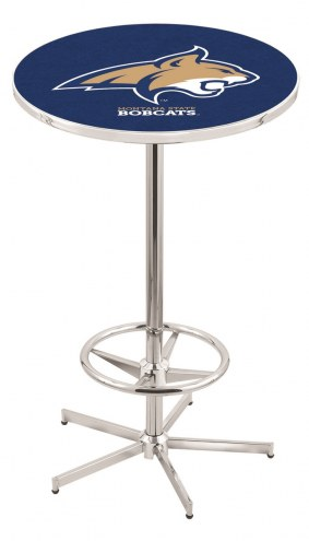 Montana State Bobcats Chrome Bar Table with Foot Ring