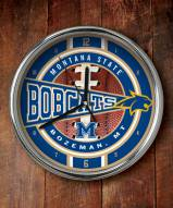 Montana State Bobcats Chrome Wall Clock