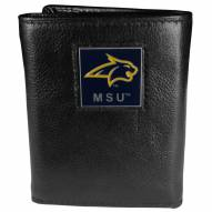 Montana State Bobcats Deluxe Leather Tri-fold Wallet in Gift Box