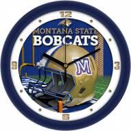 Montana State Bobcats Football Helmet Wall Clock