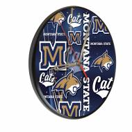 Montana State Bobcats Digitally Printed Wood Clock