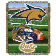 Montana State Bobcats Home Field Advantage Throw Blanket