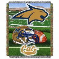 Montana State Bobcats Home Field Advantage Throw Blanket