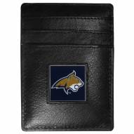Montana State Bobcats Leather Money Clip/Cardholder in Gift Box