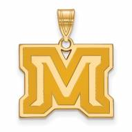 Montana State Bobcats Sterling Silver Gold Plated Medium Pendant