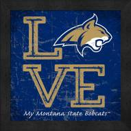Montana State Bobcats Love My Team Color Wall Decor