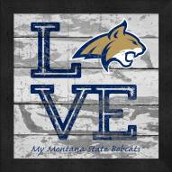 Montana State Bobcats Love My Team Square Wall Decor